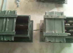 5 inches block molds, hollow & solid